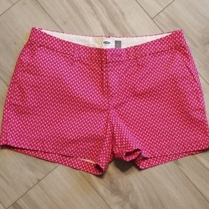 Women's Old Navy pink patterned shorts size 4